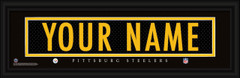 Pittsburgh Steelers Personalized Jersey Nameplate Framed Print