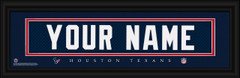 Houston Texans Personalized Jersey Nameplate Framed Print