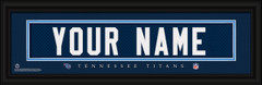 Tennessee Titans Personalized Jersey Nameplate Framed Print