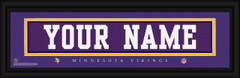 Minnesota Vikings Personalized Jersey Nameplate Framed Print