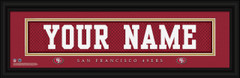 San Francisco 49ers Personalized Jersey Nameplate Framed Print