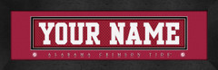 Alabama Personalized Jersey Nameplate