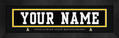 App State Personalized Jersey Nameplate