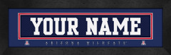 Arizona Wildcats Personalized Jersey Nameplate