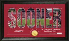 Oklahoma Sooners Word Art Coin Photo Mint