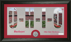 Ohio State Buckeyes Word Art Coin Photo Mint