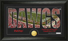 Georgia Bulldogs Word Art Coin Photo Mint