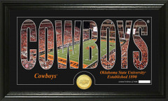 Oklahoma State Cowboys Word Art Coin Photo Mint