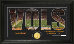 Tennessee Vols Word Art Coin Photo Mint