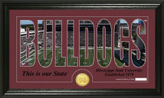 Mississippi State Bulldogs word Art coin photo mint