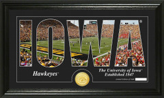 Iowa Hawkeyes Word Art Coin Photo Mint