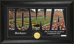 Iowa Hawkeyes Word Art Coin Photo Mint