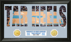 North Carolina Tar Heels Word Art Coin Photo Mint