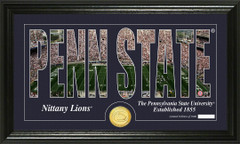 Penn State Nittany Lions Word Art Coin Photo Mint