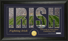 Notre Dame Word Art Coin Photo Mint