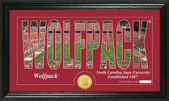 NC State Wolfpack Word Art Coin Photo Mint