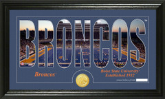 Boise State Broncos Word Art Coin Photo Mint