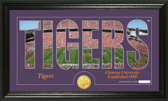 Clemson Tigers Word Art Coin Photo Mint