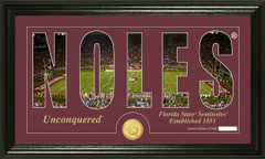 FSU Seminoles Word Art Coin Photo Mint