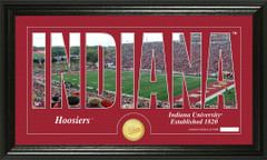 Indiana Hoosiers Word Art Coin Photo Mint