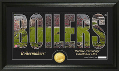 Purdue Boilermakers Word Art Coin Photo Mint