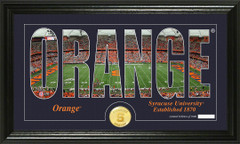 Syracuse Orange Word Art Coin Photo Mint