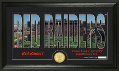 Texas Tech Red Raiders Word Art Coin Photo Mint