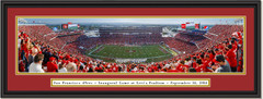 San Francisco 49ers Inaugural at Levi's Stadium Framed Picture double matted black frame