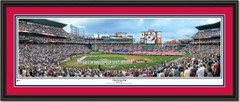 Atlanta Braves Turner Field Panoramic Opening Day Double Matting and Black Frame