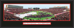 Texas Tech Red Raiders Take the Field Framed Print