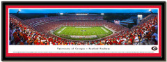 UGA Sanford Stadium Panoramic Framed Print matted