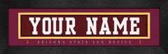 Arizona State Sun Devils Personalized Jersey Nameplate
