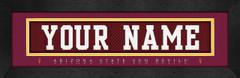 Arizona State Sun Devils Personalized Jersey Nameplate