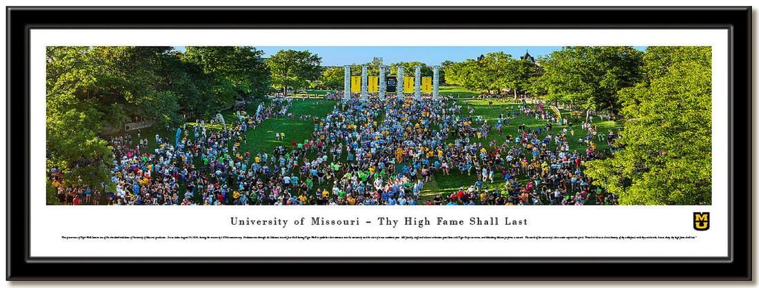 Missouri Tiger Walk Framed Picture no mat