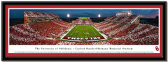 Oklahoma Memorial Stadium Stripes at Dusk Framed Picture matted