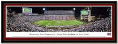 Mississippi State Davis Wade Stadium Night Poster matted