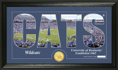 Kentucky Wildcats Word Art and Coin Photo Mint