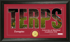 Maryland Terps Word Art and Coin Photo Mint