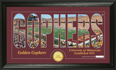 Minnesota Golden Gophers Word Art and Coin Photo Mint