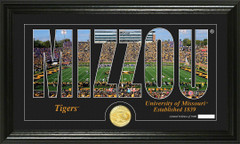 Missouri Tigers Word Art and Coin Photo Mint