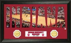 Indiana Hoosiers Word Art and Coin Photo Mint