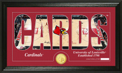 Louisville Cardinals Word Art and Coin Photo Mint