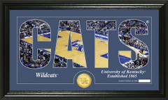 Kentucky Wildcats Basketball Word Art and Coin Photo Mint