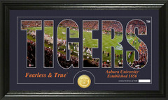 Auburn Tigers Word Art and Coin Photo Mint