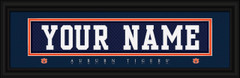 Auburn Tigers Personalized Jersey Nameplate Framed Print