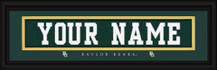 Baylor Bears Personalized Jersey Nameplate Framed Print