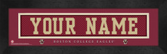 Boston College Eagles Personalized Jersey Nameplate Framed Print