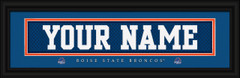 Boise State Broncos Personalized Jersey Nameplate Framed Print