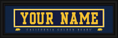 California Golden Bears Personalized Jersey Nameplate Framed Print