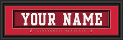 Cincinnati Bearcats Personalized Jersey Nameplate Framed Print